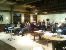 Deelnemers spuitlicentiebijeenkomst