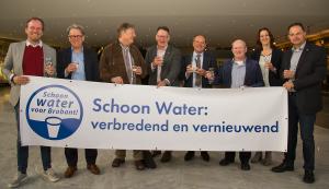 Schoon Water bestuurders proosten op de toekomst van Schoon Water