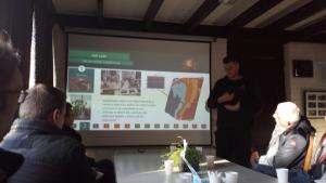 Presentatie over precisielandbouw bij van den Borne.