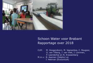 Schoon Water Brabant rapportage 2018, kaft