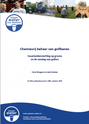 CLMrapport Chemievrij beheer van golfbanen, Fusariumbesmetting op greens en de mening van golfers